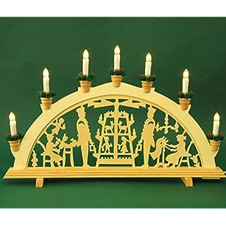 MH-Schwibbogen-Lichterbogen-Leuchter-Pyramide-ca-57-cm-breit-7flammig-Weihnachten-Advent-Geschenk-Dekoration-10412