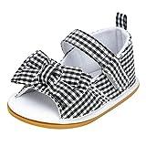 MagiDeal Sandales Paire Bowknot Chaussures Premiers Pas Bébé Fille Berceuses Vêtement Nouveau Né - Noir, 12-18 Mois