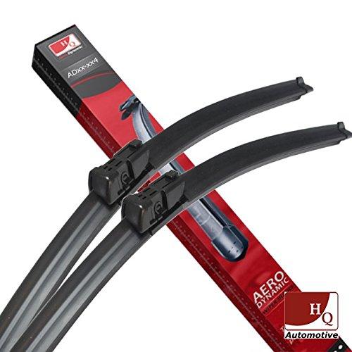 Front /& Rear kit of Aero Flat Windscreen Wiper Blades AD51-121|HQ14D