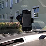 Thevery®, Smartphone supporto parabrezza cruscotto auto supporto per telefono cellulare auto cruscotto console Mount Cardholder, cellulari, smartphone, auto, fissaggio, supporto, braccio girevole a 360° e salvaspazio, resistente al calore, universale, in