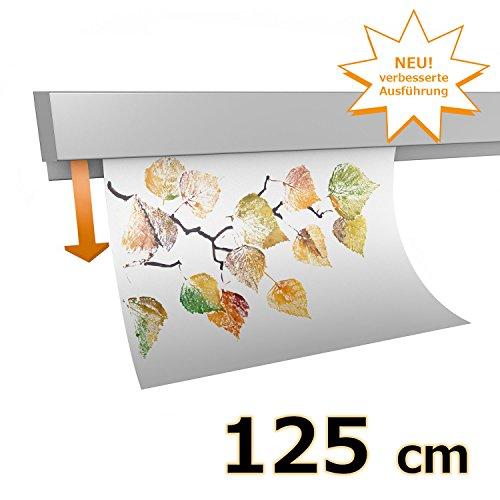 hang-it Klemmleiste Klemmschiene aus Aluminium - 125 cm - zur Präsentation von Fotos, Bildern, Postkarten
