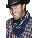 NET TOYS Bandana Halstuch Westernhalstuch Blau Cowboy Halstuch Western Hals Tuch Cowboy Sheriff Rodeo Kostüm Zubehör