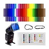 #10: Techzere® FOSOTO 20pcs Flash Speedlite Color Gels Filters for Canon Nikon Sony Godox Yongnuo Camera Flash Light