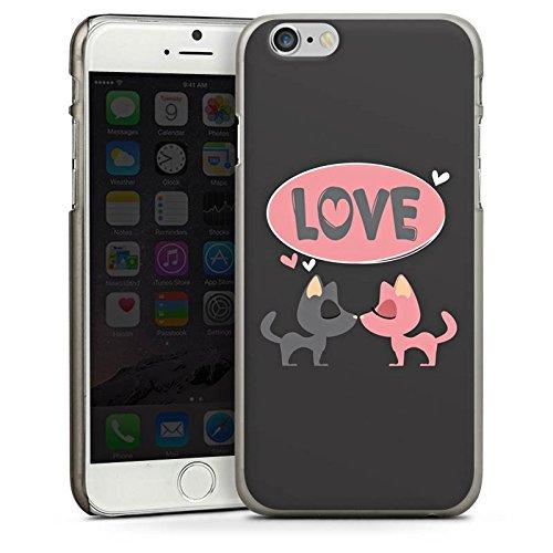 Apple iPhone 5 Housse Étui Protection Coque Amour Phrase Embrasser CasDur anthracite clair