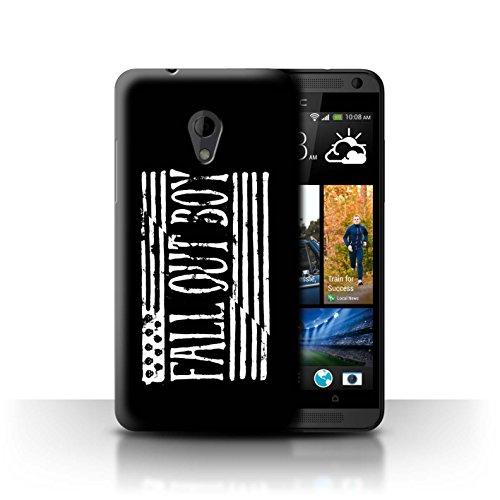 Offiziell Fall Out Boy Hülle / Case für HTC Desire 700 / Flagge/Schwarz Muster / FOB Band Logo - 700 Desire Htc Handy-fall,
