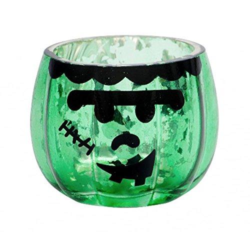 halter Halloween, Glas, grün, 8.7 x 8.7 x 7 cm ()
