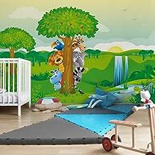 Fotomural - No.BF1 jungle animals - Mural apaisado, papel pintado, fotomurales, murales pared, papel para pared, foto, mural, pared barato, decorativo