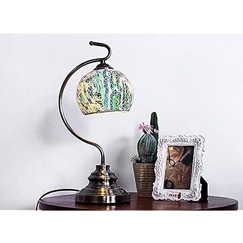 KHSKX Lampada da comodino idilliaca camera da letto, lo studio