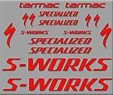 Ecoshirt QE-SERH-HNNN Aufkleber S-Works Tarmac Bike R272 Stickers Aufkleber Decals Autocollants Adesiv, Rot