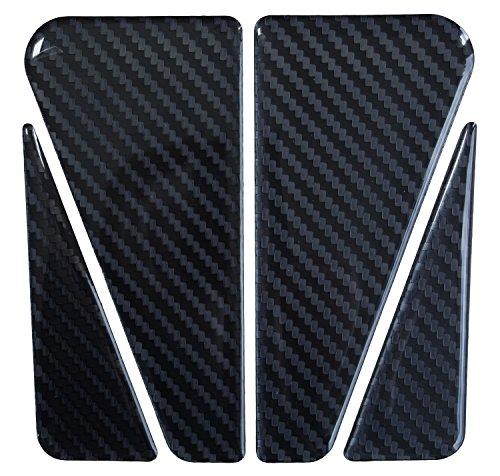 Tankpad 3D 501945 Carbon Schwarz - Hightech-Folie mit sichtbarer Struktur - universeller Tank-Schutz passend für Motorrad-Tanks