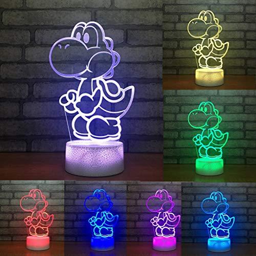 Veilleuses LED, Sept Couleurs De Lumière USB Charge Acrylique Conseil De Modélisation Créative Dortoir Décoration De La Maison Lampe De Chevet Cadeau Parfait (Edition : Touch Control)