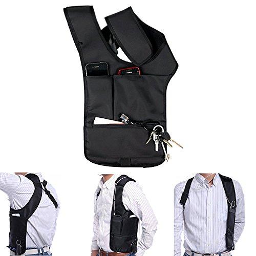 Ducomi® Connery-Riñonera bandolera con múltiples bolsillos para tener ocultos y a salvo todos sus efectos personales, 22x 45x 37mm
