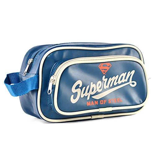 Preisvergleich Produktbild Superman Kosmetiktasche Man of Steel großes Superman Logo blau