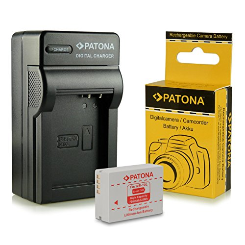 Caricabatteria + Batteria NB-10L per Canon PowerShot G15 | PowerShot G1X | PowerShot SX40 HS | PowerShot SX50 HS