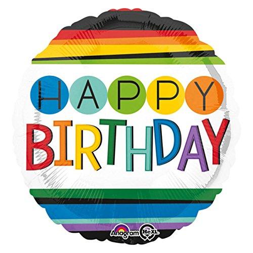 Amscan 3442901 Folienballon Happy Birthday Preisvergleich