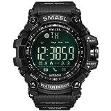 SMAEL 1617B Montre connectée numérique sport pour homme, noir
