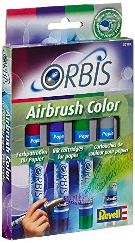 Revell orbis 30102 - set cartucce d'inchiostro per carta, aerografo per bambini