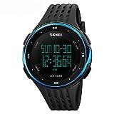 Amstt Herren Sportuhren Uhren Männer Wasserdicht Digital LED Leuchtende Nacht Automatik Kalender Outdoor Silikon Uhr