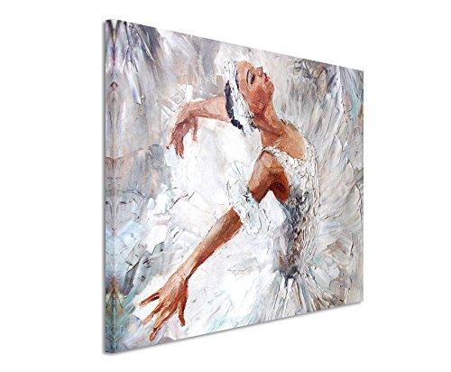 XXL Fotoleinwand 120x80cm Ölgemälde - Ballerina auf Leinwand exklusives Wandbild moderne Fotografie für ihre Wand in vielen Größen