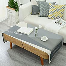 QPG Mesa De Centro Nórdica De La Tela De Algodón Rectangular Minimalist Modern Coffee Table Pad TV Cabinet Dust 70 * 180cm ( Color : C )