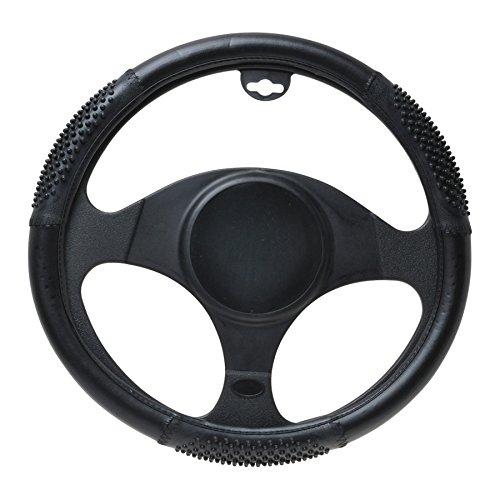 Preisvergleich Produktbild Lenkradbezug 41-43cm schwarz mit Noppen für Transporter und Pick-Ups