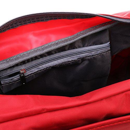 Generic Portatile Impermeabile Borsa A Tracolla Sacchetto per Viaggio Esercizio Bagaglio Shopping Casuale Rosso