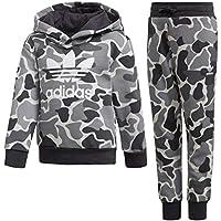 Adidas L TRF C Hood - Chándal, Unisex Infantil, (MULTCO/Carbon)