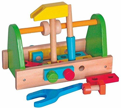 WERKZEUG WERKZEUGKASTEN SET SCHRAUBEN HOLZ Holzspielzeug Kinderland