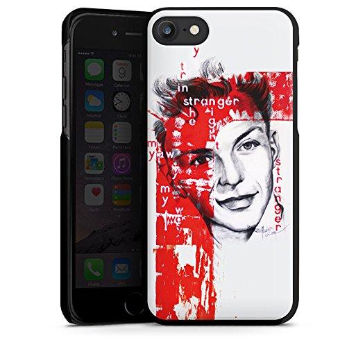 Apple iPhone X Silikon Hülle Case Schutzhülle Frank Sinatra Zeichnung Mann Hard Case schwarz