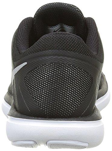 Nike Flex Run Gs, Running Garçon Noir (Black/White)