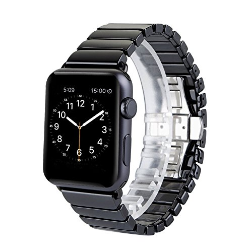 Arktis Keramik Armband Uhrenband Uhrenarmband Premium für Apple Watch 42/44 mm schwarz