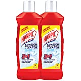 Harpic Disinfectant Bathroom Cleaner, Lemon - 1 L (Pack of 2)