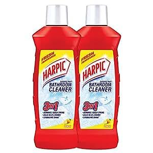 Harpic  Disinfectant Bathroom Cleaner, Lemon - 1 L (Pack of 2)