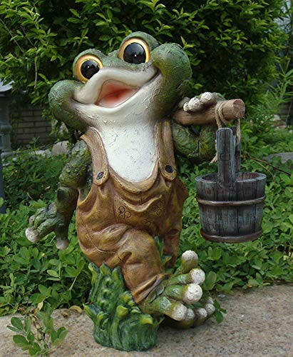 GMMH quakender Frosch 40 cm Hoch Design 2 Deko Figuren