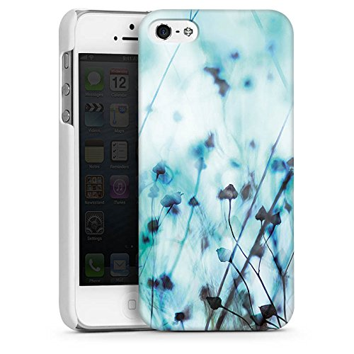Apple iPhone 4 Housse Étui Silicone Coque Protection Nature Prairie Champ CasDur blanc