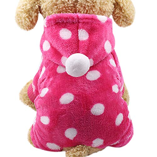 Fossrn Ropa Perro Pequeño Invierno Franela Sudadera con Capucha Colorido de Arcoiris Lunar Abrigo Jersey para Mascota Chihuahua Yorkshire Cachorro