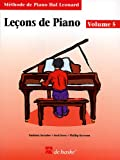 Leçons de Piano Volume 5