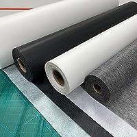 Blanc poids moyen coton tissé fusible fer sur l/'interfaçage-par mètre ou 50cm