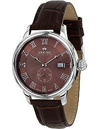 Louis Xvi de Hombre Reloj de Pulsera Louis Charles L Argent Brun analógico de Cuarzo