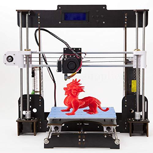 Officeink A8 3D Prusa Drucker Kit DIY Holzrahmen Hohe Präzision LCD Bildschirm Desktop 3d Printer...