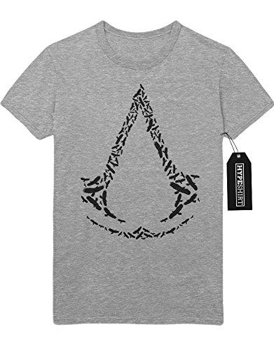 """T-Shirt """"ASSASINS CREED LOGO BIRDS"""" K123476 Grau"""