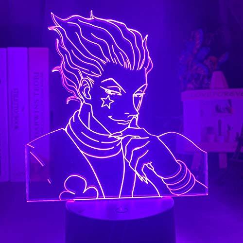 3d nachtlicht kind nachtlicht geschenk led bunt schlafzimmer nachtlicht geschenk anime hunter x hunter raumdekor licht coole 3d nachtlampe hisoka-16_color_with_remote