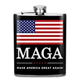 iuitt7rtree Make America Great Again Stainless Steel Flask Classic 7OZ Hip Flask Camping Wine Pot Whiskey Wine Flagon Mug