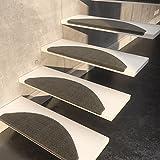 Sisal-Stufenmatte Sisalo Anthrazit Streifen einzeln oder im 15er Set