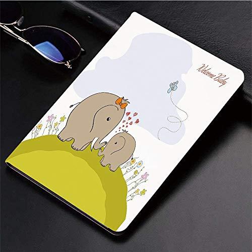 Yaoni Hülle für iPad (9,7 Zoll, Modell 2018/2017, 6. / 5. Generation),Kindergarten, Baby-Dusche inspiriert mit Mutter,Ultra Slim Cover Schutzhülle PU Lederhülle/mit Auto Sleep Wake Up Funktion (Mutter In Der Dusche)