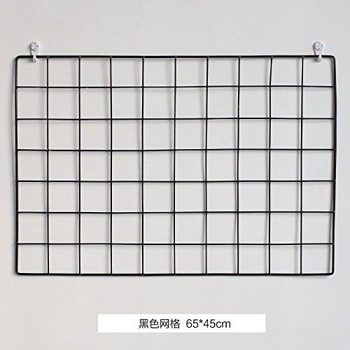 Decorativo griglia ferro parete foto ,65*45 [Nero]