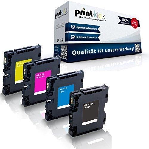 4x kompatible Druckerpatronen für Ricoh Aficio SG 3100snw SG 3110dn SG 3110dnw SG 3110n SG 3110sfnw SG 7100dn SG-K 3100DN Black Cyan Magenta Yellow - GC-41K GC-41C GC-41M GC-41Y - Office Pro Serie