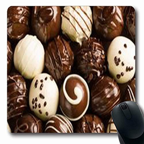 Luancrop Mousepads Schokoladen-Süßigkeits-Weiß-Trüffel-Nahrungsmittelgetränk-längliches Spiel-Mausunterlage-rutschfeste Gummimatte - Süßigkeiten-trüffel
