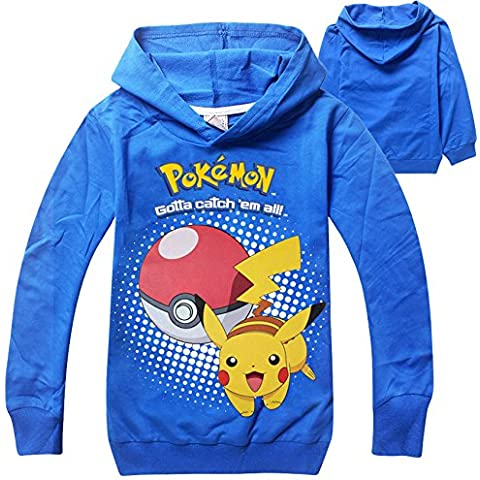 Pokemon Camiseta Mangas Largas y capucha