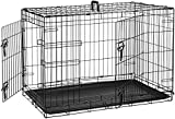 AmazonBasics Double-Door Folding Metal Dog Crate - Medium